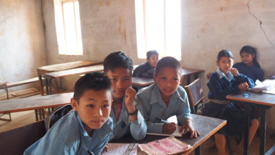 Education in Dhola - the boys
